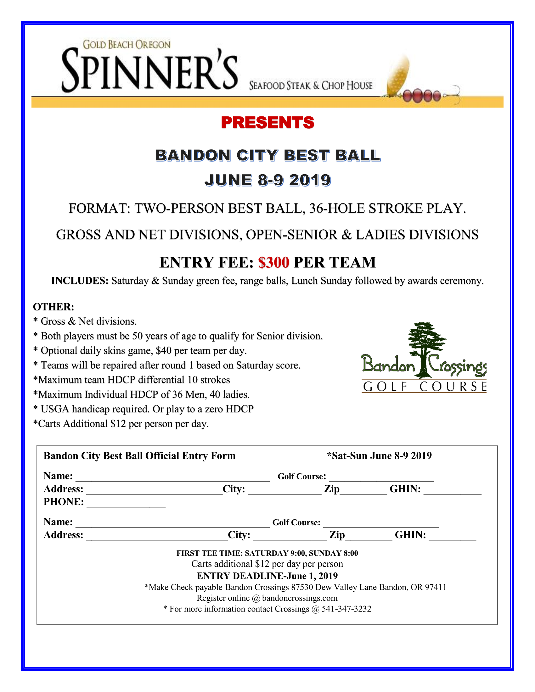 BANDON CITY BEST BALL FLYER 2019 Page 1